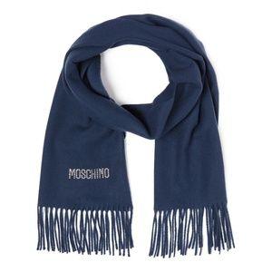Moschino | Swarovski Accented Logo Wool Scarf
